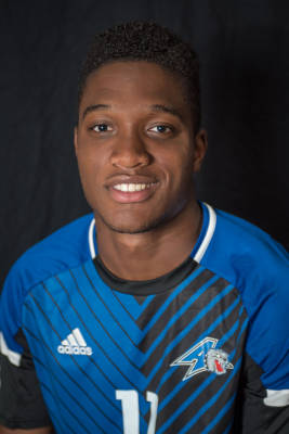 Chuka Anyafor is the new forward for the men's soccer team. Photo courtesy of UNC Asheville