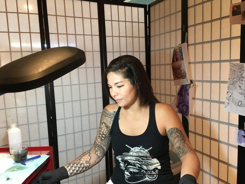 Tattoo shops make their mark on asheville the blue banner for Best tattoo artist in asheville nc
