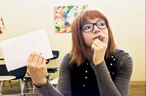 Izzy Daniels, sophomore new media student at UNCA, contemplates future opportunities in animation beyond graduation.  Photo Illustration by Leslie Frempong - Contributor